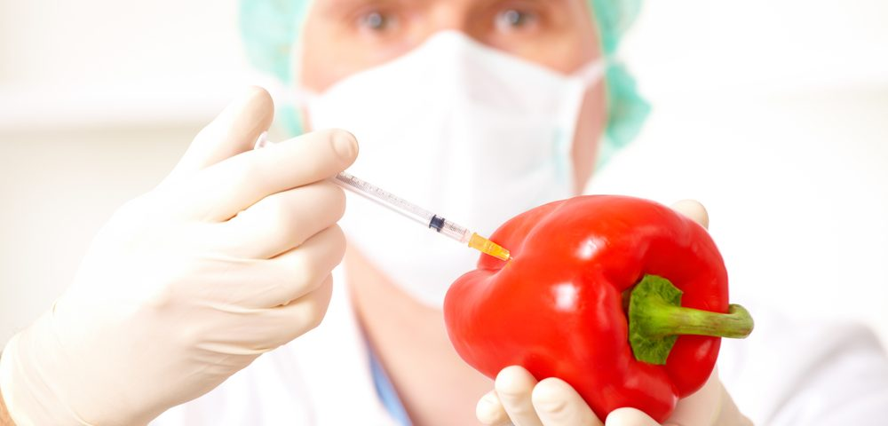 injecting red pepper vegetable