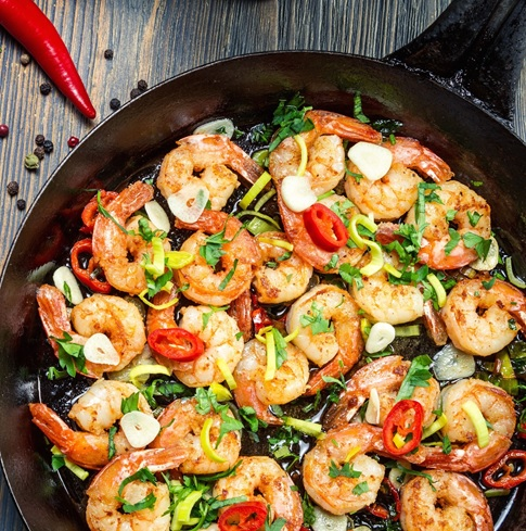 Shrimp with White Beans, Spinach & Tomatoes – Dr. Alan Christianson
