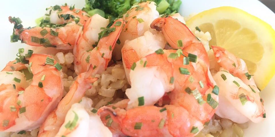 baked shrimp with lemon and chives