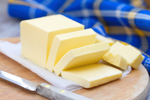 Saturated fats like butter