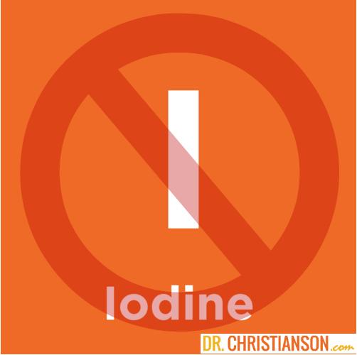 No Iodine Dr C Dr Alan Christianson