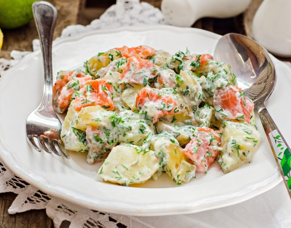 Adrenal Reset Diet - Potato and Salmon Salad