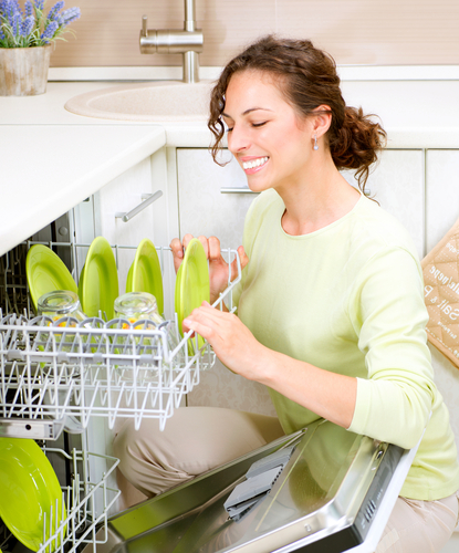woman dishwasher