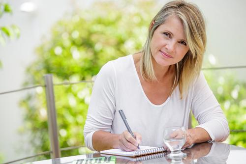 iodine-woman-writing