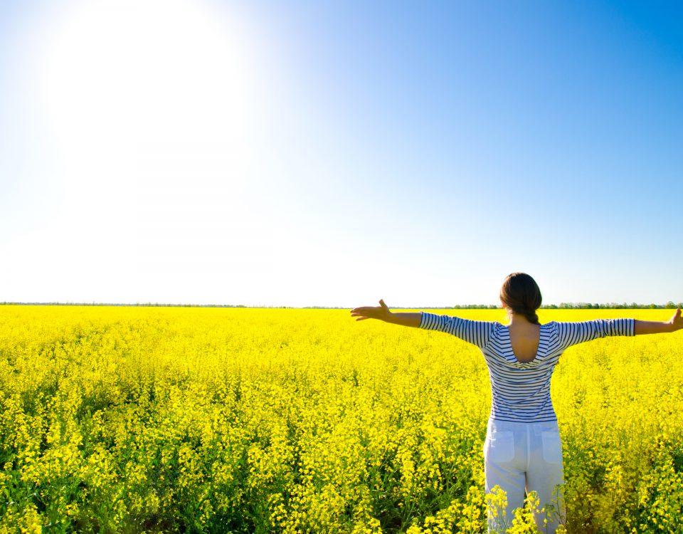 woman sun vitamin D