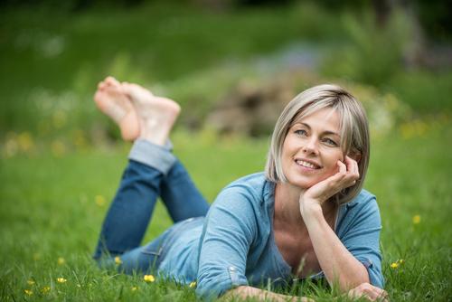 woman-grass